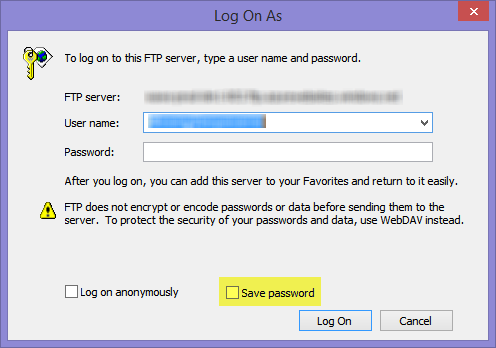 Donovan Brown | How to log out of FTP from Windows Explorer