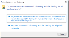 change network from public to work server 2016